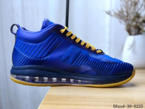 Nike LeBron X John Elliott Icon QS Royal Blue Yellow Sneakers