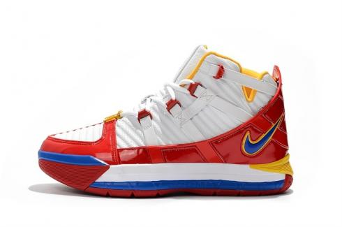 Nike Zoom LeBron 3 SuperBron Superman QS White Red Blue AO2434-100