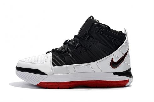 Nike Zoom Lebron 3 Home White Black Varsity Crimson BQ2444-016
