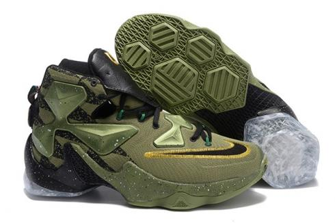 f06dc6f74ae Nike Lebron XIII LBJ13 Black Orange Thunder Fire Men Basketball ...