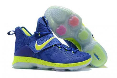 363dd46c6 Prev Nike Zoom Lebron XIV 14 Royal Blue Green Men Basketball Shoes 921084