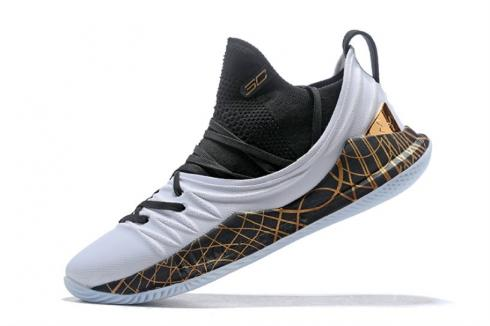 UA Curry 5 Under Armour Curry 5 Black White Gold 3020657-010