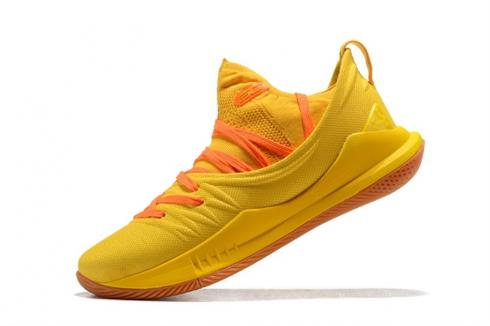UA Curry 5 Under Armour Curry 5 Bright Yellow Crimson 3020657-300