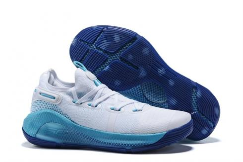 Under Armour Curry 6 Christmas in the Town White Blue 3020612-104