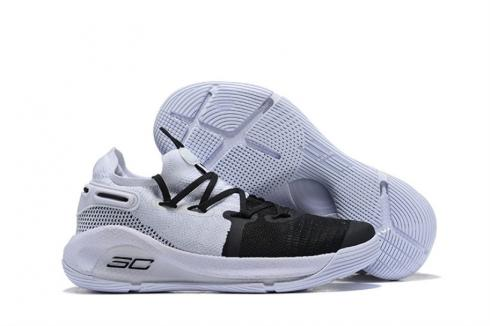 Under Armour Curry 6 White Black Silver 3020612-101