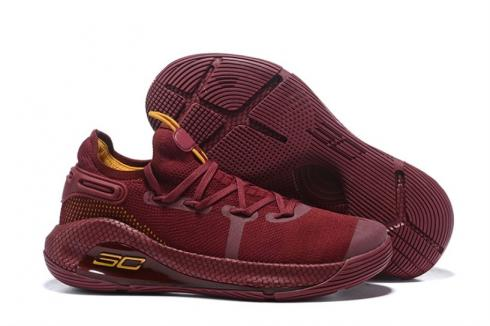 Under Armour Curry 6 Wine Red Yellow 3020612-000