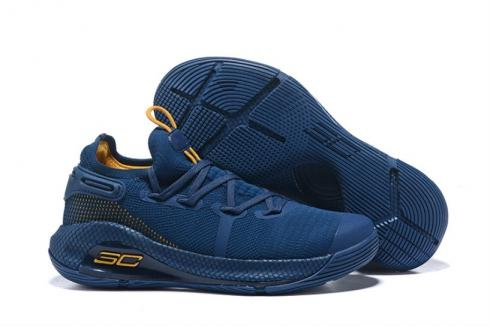 Under Armour UA Curry 6 Dark Blue Gold 3020612-407