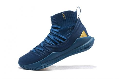 UA Curry 5 Under Armour Curry 5 High Blue Gold 3020677-405