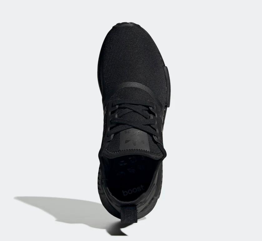 Size 8.5 - adidas NMD R1 Triple Black - FV9015 for sale
