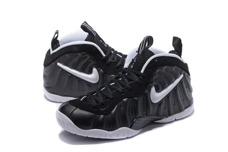 61cb4d1714e3df Nike Air Foamposite One Pro Dr Doom Black White Men Basketball Shoes  624041-006