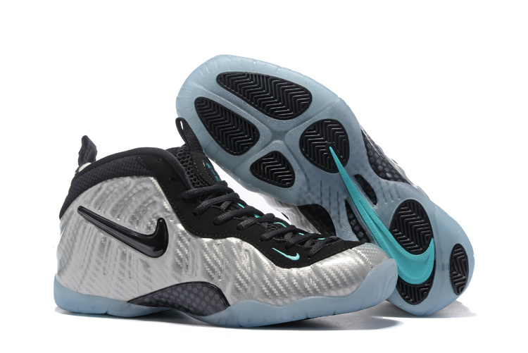 huge discount 45518 7ade0 Nike Air Foamposite One Silver Black Blue Men Basketball Shoes - Febbuy