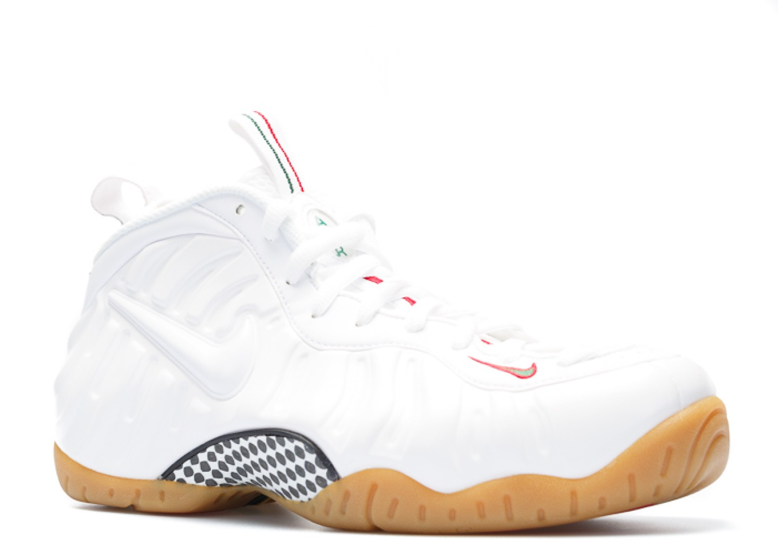 9ac538f30d11a Air Foamposite Pro Winter White Greg White Green Gym Red 624041-102