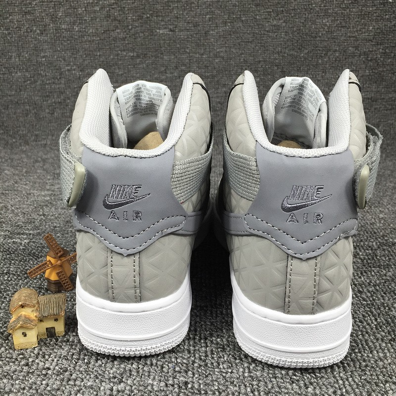 finest selection 5a961 2bee8 ... Nike Air Force 1 Hi Premium Suede Womens Shoes Matte Silver Cool Grey  845065-001 ...