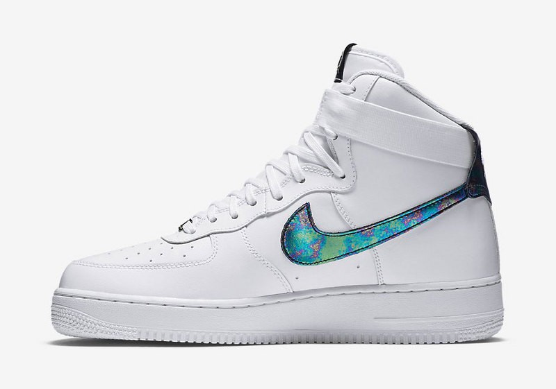 outlet store f44de c434e Prev Nike Air Force 1 High LV8 White Metallic Gold Iridescent QS  806403-100. Zoom