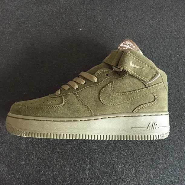 Nike Air Force I 1 High Cut Unisex Shoes Light Brown All Hot