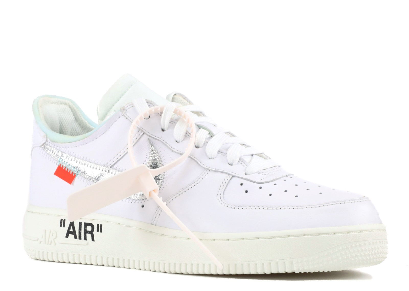 0275dc16dfd53 Air Force 1'07 Off White -White Sail Silver Metallic AO4297-100