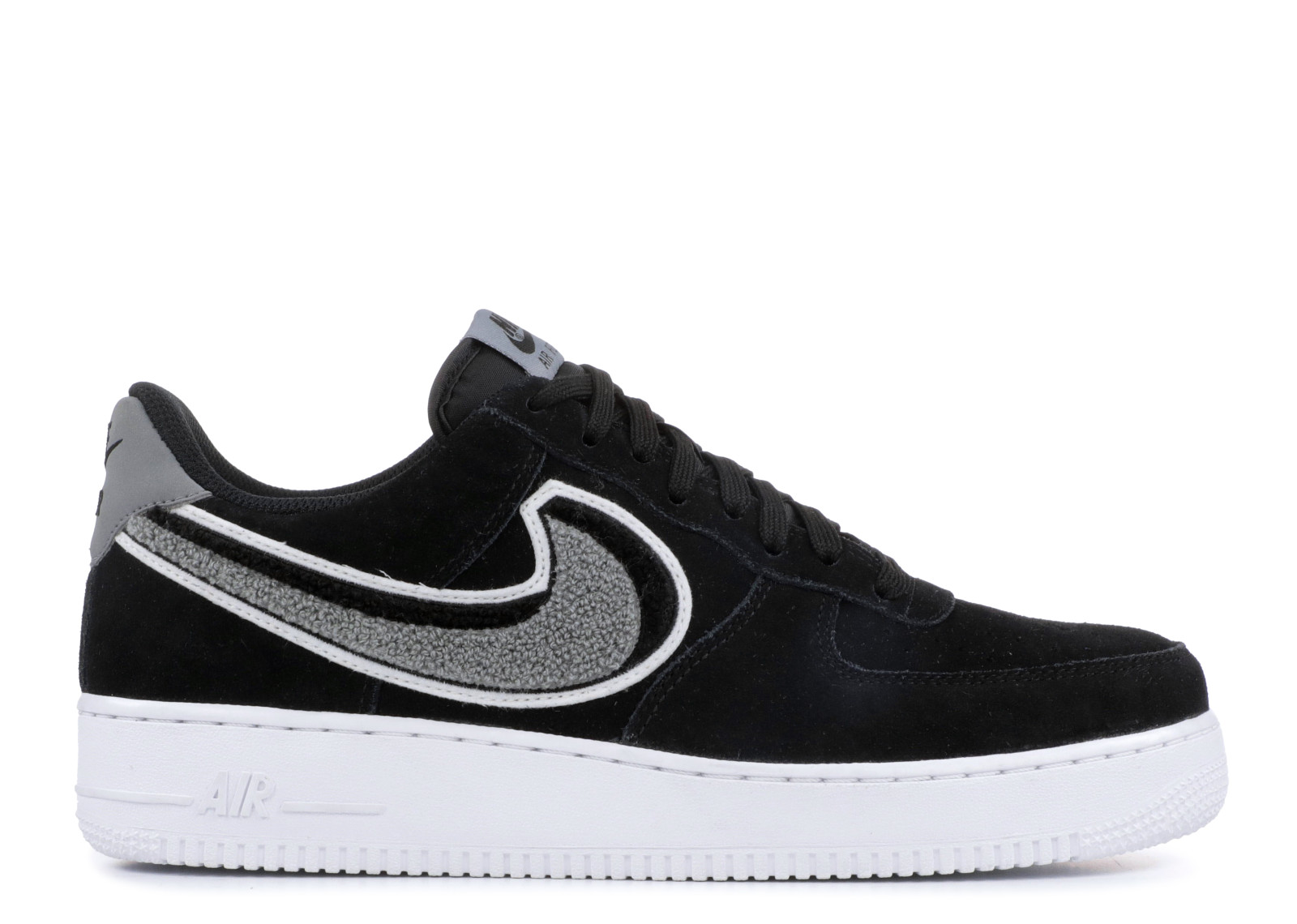 newest 616d0 48a14 Prev Air Force 1 07 Lv8 Chenille Swoosh Black Grey ...