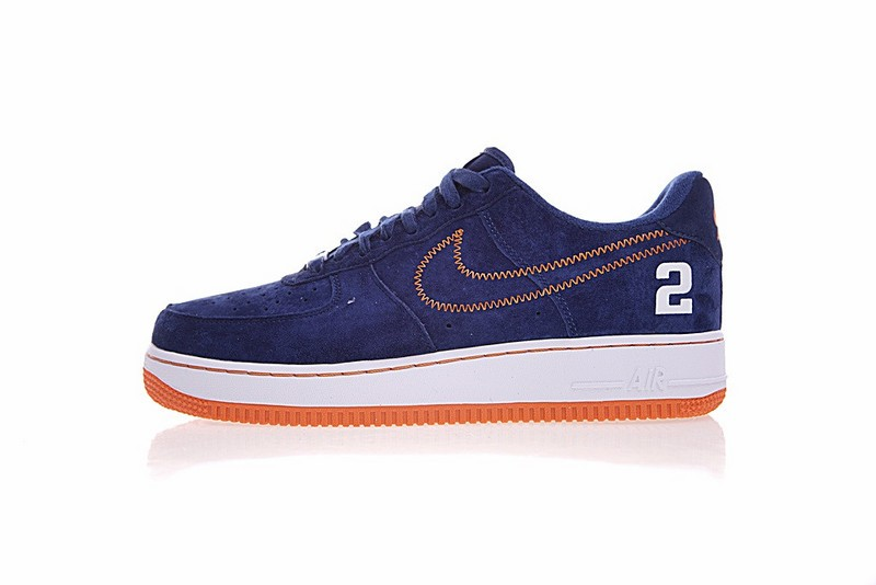 f9945ce8f92c Derek Jeter X Nike Air Force 1 Low Dark Blue Orange AQ0666-481 - Febbuy