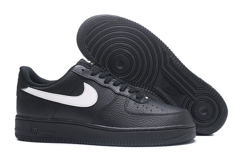 4ef8dcb1b7f96 Nike Air Force 1 Low '07 Premium Leather Black White AA4083-001 - Febbuy