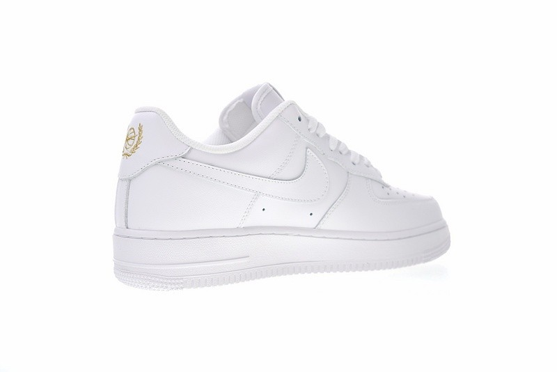 new product 368c0 7d91d ... Nike Air Force 1 Low Crest Logo White Metallic Gold AA4083-102 ...