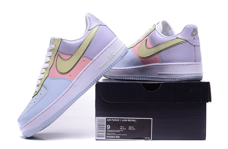 04e3e1097348 Nike Air Force 1 Low Easter Pack Blue Lime Pink Yellow 845053-500 ...