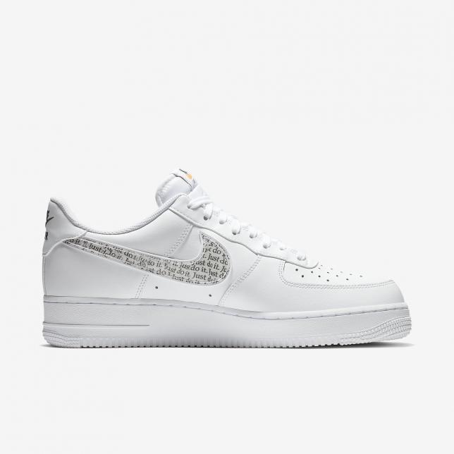 premium selection a5651 4c286 Nike Air Force 1 Low Just Do It White White White-black-total Orange  BQ5361100