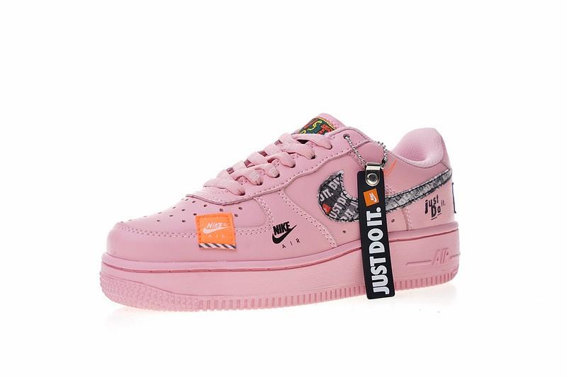 Nike Air Force 1 Low Pink Orange Black Just Do It 616725 800