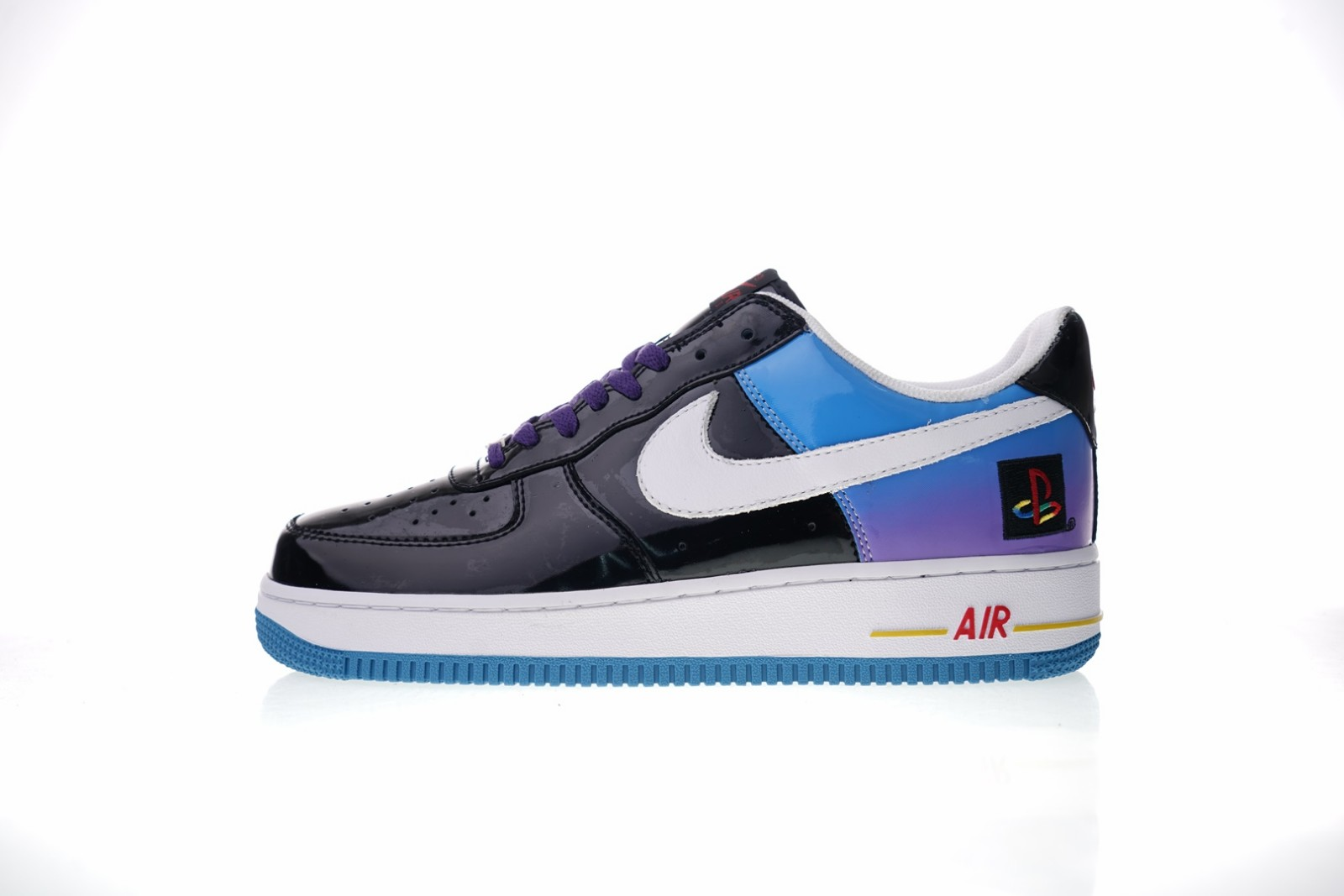 Prev Nike Air Force 1 Low Playstation Black Blue White Purple Varsity Red  ... 17fe89ca0