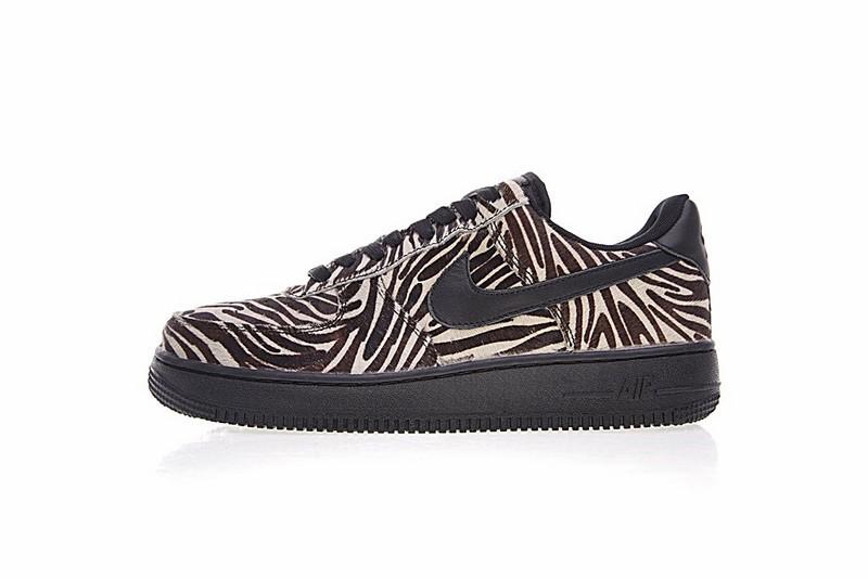 new styles 1cdd2 4d410 Prev Nike Air Force 1 Low Premium Black Zebra Print Sneaker 89889-003