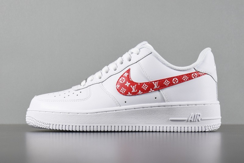 online store 16c8a 9d582 Prev Nike Air Force 1 Low White Red Casual Shoes 923027-100. Zoom