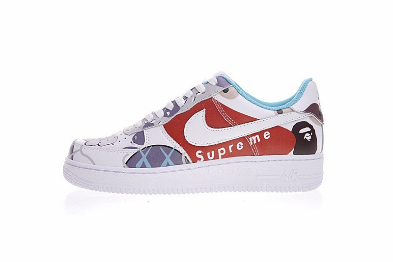 free shipping cfaeb fc1a3 Move your mouse over image or click to enlarge. Next. CLICK IMAGE TO  ENLARGE. Supreme x Kaws x Bape x Nike Air Force 1 ...