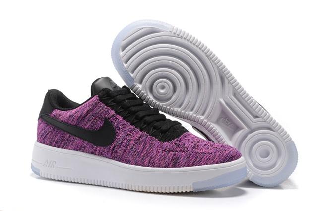 new arrival d7f40 f2b6d Prev Nike Air Force 1 Flyknit Low Women Shoes Fuchsia Glow Black 820256-601