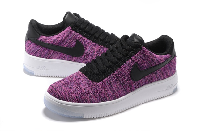 afed2e9ae774 Nike Air Force 1 Flyknit Low Women Shoes Fuchsia Glow Black 820256 ...
