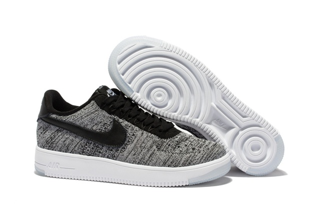 new style e37f9 66a14 Prev Nike Men Air Force 1 Low Ultra Flyknit Bright Grey Black LifeStyle  Shoes 817419. Zoom. Move your mouse over image or click to enlarge