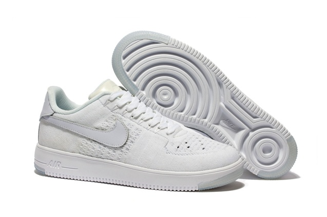 b97d0b7a85a991 Nike Men Air Force 1 Low Ultra Flyknit White White Ice 817419-100 ...
