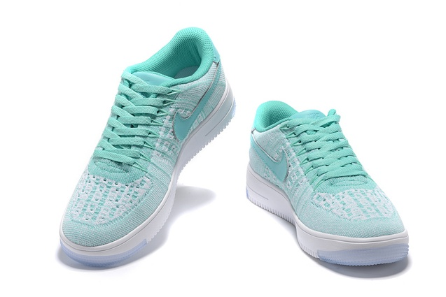 best authentic d9155 e5d92 ... Nike Women Air Force 1 AF1 Flyknit Low Hyper Turquoise White Lifestyle Shoes  820256-300 ...