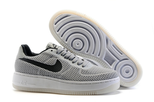 Grey Sneakers Light Af1 Black Force Low Shoes Nike Upstep Br 1 Air 833123 TKcJulF13