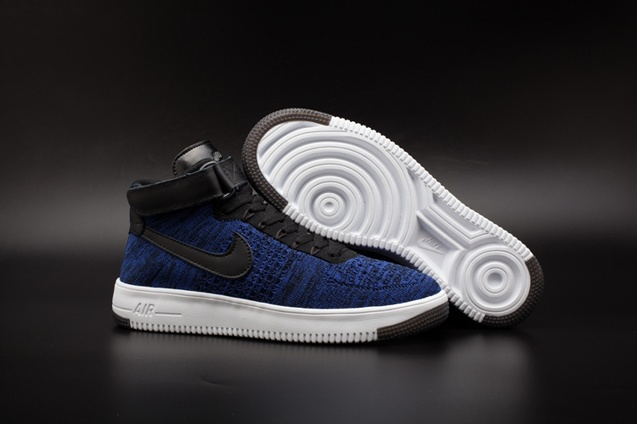 size 40 8a205 4b9e8 Prev Nike AF1 Ultra Flyknit Mid Air Force 1 Navy Black Men Casual Shoes  817420-400. Zoom