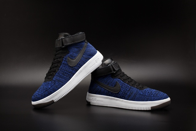 cc842a70e86 Nike AF1 Ultra Flyknit Mid Air Force 1 Navy Black Men Casual Shoes  817420-400