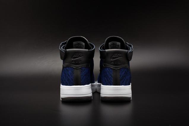 0060b2af35d Nike AF1 Ultra Flyknit Mid Air Force 1 Navy Black Men Casual Shoes 817420 -400