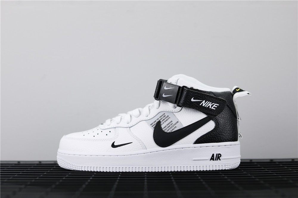 Nike Air Force 1 Mid 07 LV8 Utility White Black 804609-103 - Febbuy
