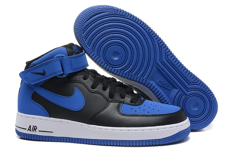 best sneakers d9d86 d068a Prev Nike Air Force 1 Mid Black Game Royal Blue ...
