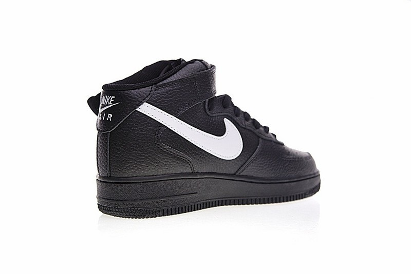 Nike Air Force 1 Mid Black Leather Pack 315123-043 - Febbuy f45394381c