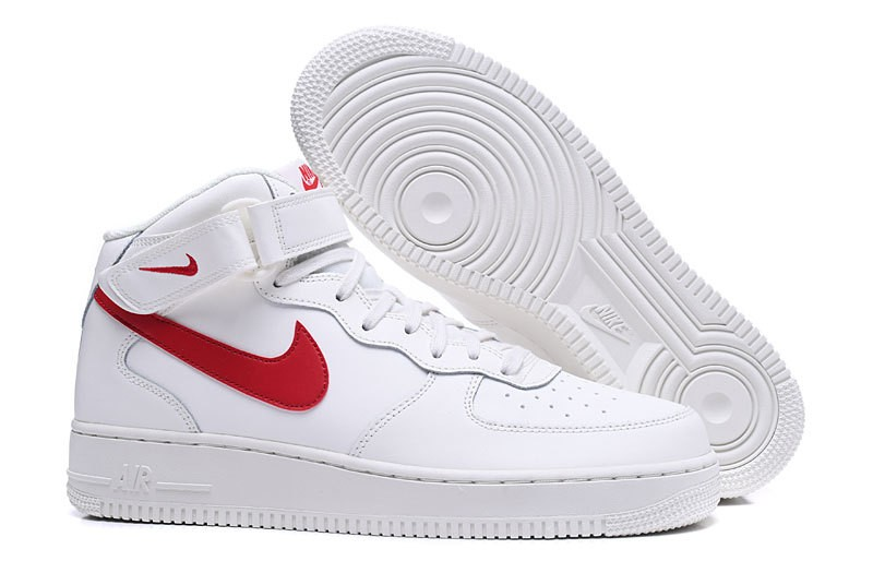 official photos 75536 5a872 Prev Nike Air Force 1 Mid Sail University Red ...