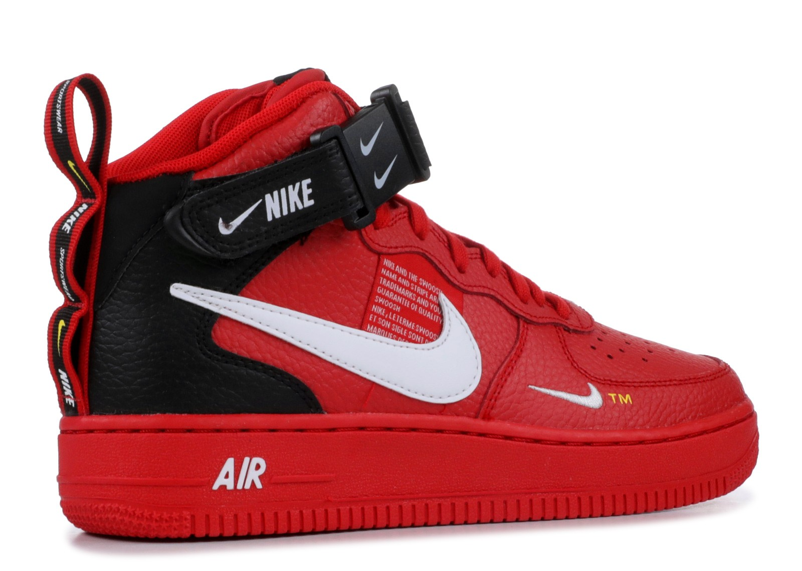 Utility University Nike 1 Lv8 Mid Black Air Av3803 600 Force Red dCxeWBor