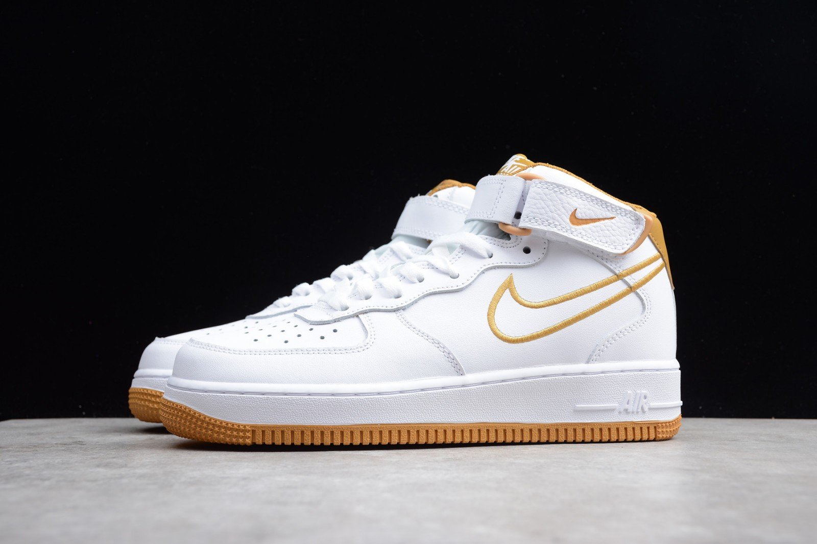 White Air Mid Leather 101 Force 1 Nike Muted Aq8650 Shoes Bronze 1JulT5K3Fc