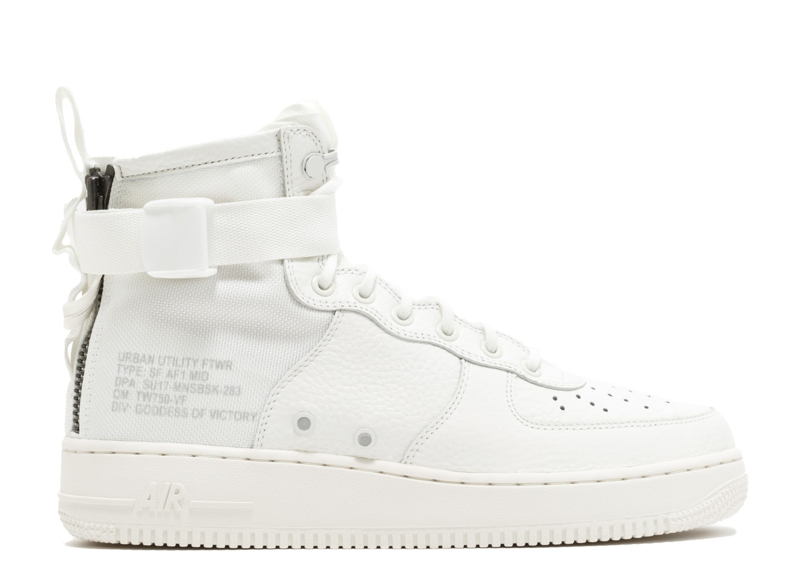 innovative design 31f31 852d1 Nike Air Force 1 Sf Af1 Mid Triple Ivory White AA6655-100
