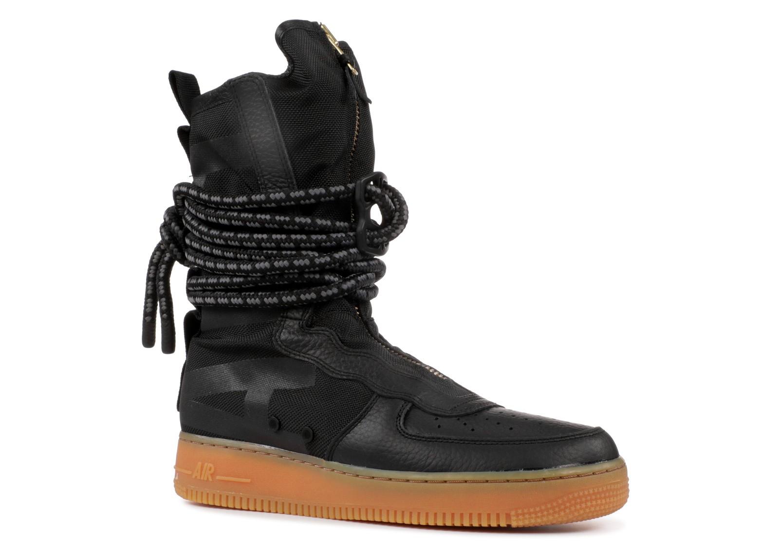 Sf Force 1 Af1 Black High Nike Med Gum 001 Brown Aa1128 Air Yf6gbmyvI7