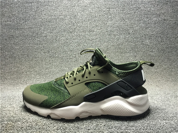 release date: 5f438 a47c3 Nike Air Huarache 4 Run Ultra Army Green White 753889-003