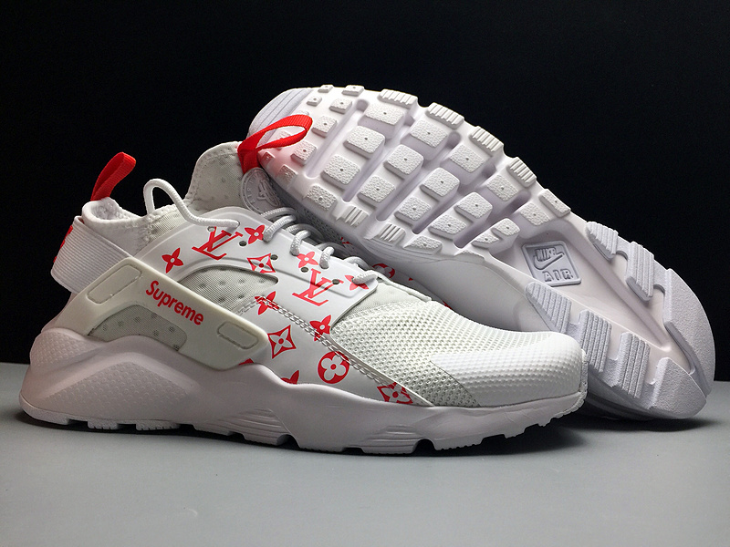 168ccf7b8ff Nike Air Huarache 4 Run Ultra Black Superme White Red 819685-106 ...